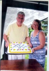 Honoring Picnic Hosts John and Ginny Omerod, on the occasion of her Retirement from Counseling at DeKalb Middle School